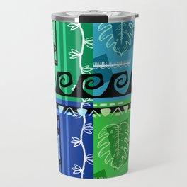 Hawaiian Pattern #1 - marine colors! Travel Mug