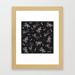 Poochyena & Mightyena pattern Framed Art Print