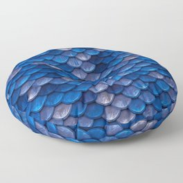 Blue Penny Scales Floor Pillow