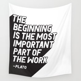 Typography Wall Tapestry