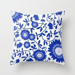 Siniset kukat Throw Pillow