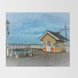 On Penarth Pier Throw Blanket