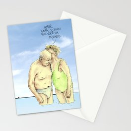 old couple Stationery Cards