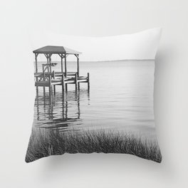 Currituck Sound, Kitty Hawk Throw Pillow