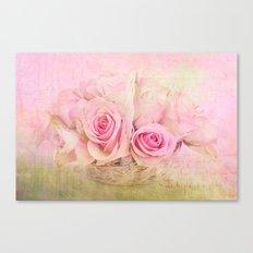 Rose Basket Canvas Print