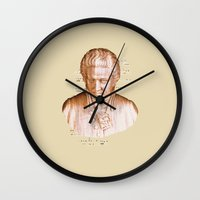 mozart Wall Clocks featuring Mozart by Arts and Herbs