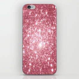 Pink Sparkle Stars iPhone Skin