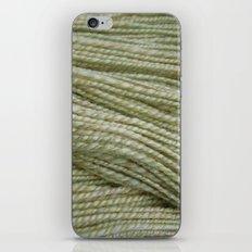 Yellow, light green handspun yarn iPhone & iPod Skin