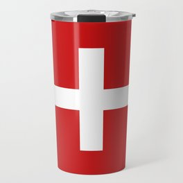 Swiss flag Travel Mug