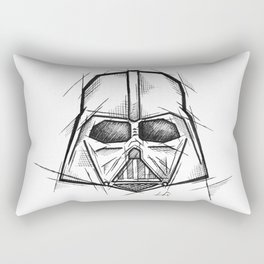 Darth Vader Handmade Drawing, Made in pencil, charcoal and ink, Tattoo Sketch, Tattoo Flash, Sketch Rectangular Pillow