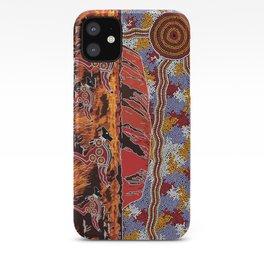 Uluru (Ayers Rock) Authentic Aboriginal Art iPhone Case