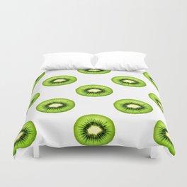 Kiwi Fruit Slice Duvet Cover