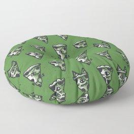 Green Monster Slice Floor Pillow