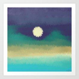 """Sunset"" painting Art Print"