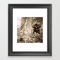 Man's Best Friend Framed Art Print