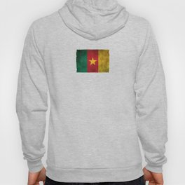 Old and Worn Distressed Vintage Flag of Cameroon Hoody