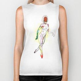 Cosmopolitan, Nude female anatomy, NYC artist Biker Tank