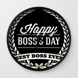 Happy Boss's day T-shirt HBD Wall Clock