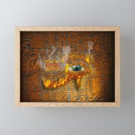 The Prophecy of Fire - Ancient Egypt Eye of Horus Framed Mini Art Print