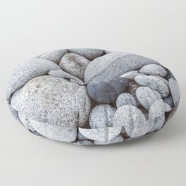 Smooth Round Pebble Nature Photography Captured At Nanven Cove Floor Pillow