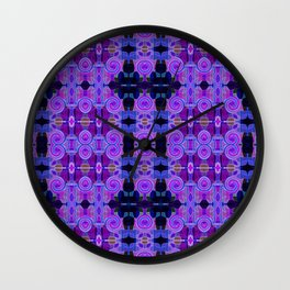 Purple Bright Lite Wall Clock