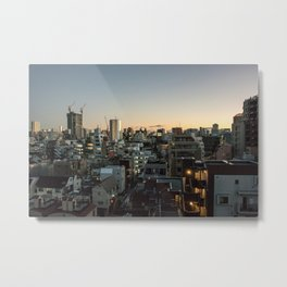 Tokyo Skyline at Dusk Metal Print