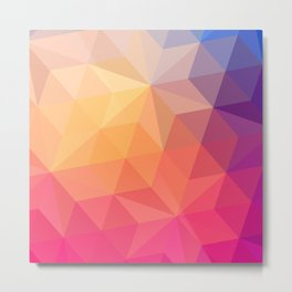Happy Color Print Geometric Shapes Metal Print