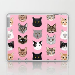 Cute Cat breed faces smiling kitten must have gifts for cat lady cat man cat lover unique pets Laptop & iPad Skin
