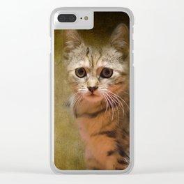 A Cute Cat Clear iPhone Case