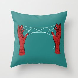 spidey hand trick Throw Pillow