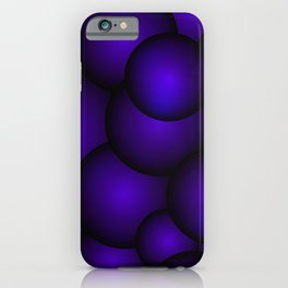 Background of blue molecules and balls. iPhone Case