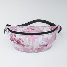 Magenta Ombre Southwest Scrollwork Print Fanny Pack