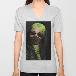 billie masker black 2021 Unisex V-Neck