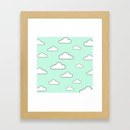 Minty Sky x Cloud Framed Art Print