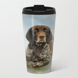 Waiting For A Cue - German Shorthaired Pointer Metal Travel Mug