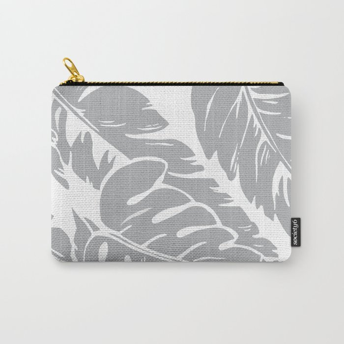 PALM LEAF GRAY Carry-All Pouch