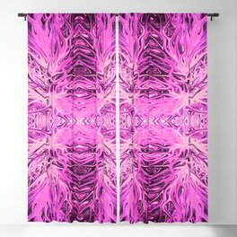 Electric Pink Cotton Candy Sunset by Chris Sparks Blackout Curtain