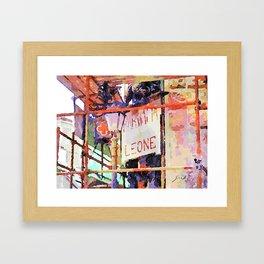 Catanzaro: pharmacy sign with lamp post Framed Art Print