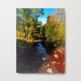 River scene at the end of summer Metal Print