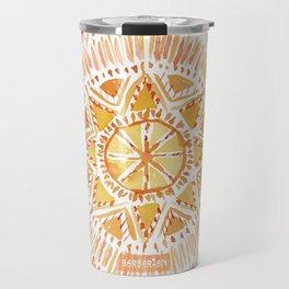 SUN BEAMS Mandala Travel Mug