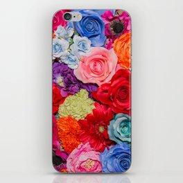 Vibrant Rainbow Flowers iPhone Skin
