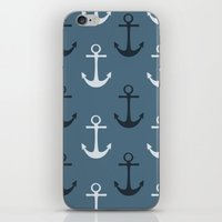 anchors iPhone & iPod Skins featuring Anchors by Zen and Chic