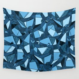 Origami whales Wall Tapestry