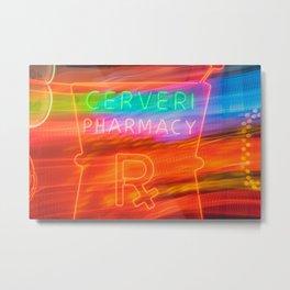 Cerveri Pharmacy Metal Print