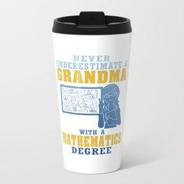 Mathematics Grandma Travel Mug