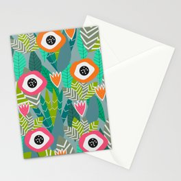 Abstract multicolored jungle Stationery Cards