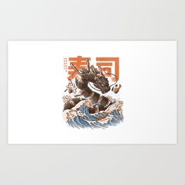 Great Sushi Dragon Art Print