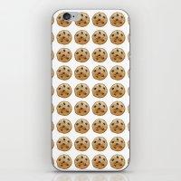 emoji iPhone & iPod Skins featuring COOKIE EMOJI by FaniS