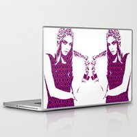 cara delevingne Laptop & iPad Skins featuring Cara Delevingne by fashionistheonlycure