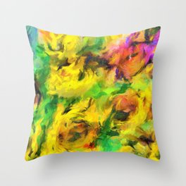 Sunflowers abstract Throw Pillow